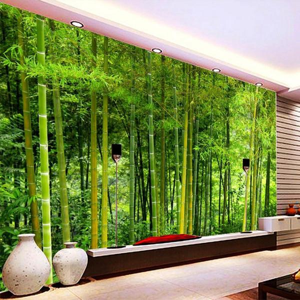 Großhandel Neueste Hochwertige Bambus Tapeten Wohnzimmer TV Sofa  Hintergrund Wandbild 3D Natur Landschaft Wohnkultur Papel De Parede 3D Von  Aurorl, ...