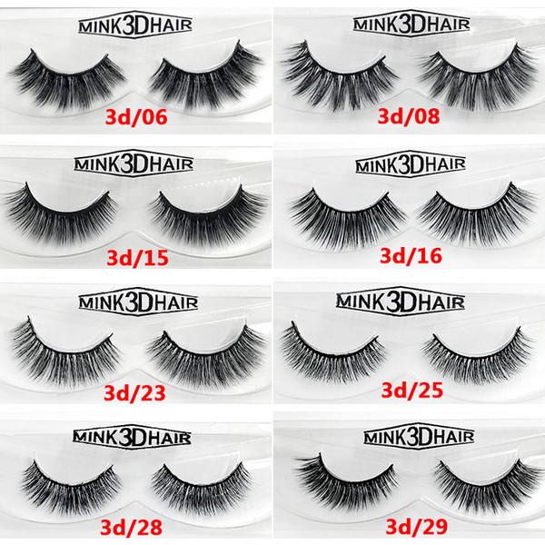 2018 Nouveautés Maquillage Cheveux Synthétiques Faux Cils Naturel Épais Longs Doux Faux Cils Haute Clone Cils 3D en Vison DHL Free Ship