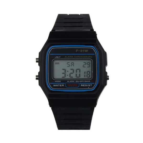 Montre numérique hommes montres bracelet en caoutchouc silicone rétro vintage montre numérique pour enfants enfants