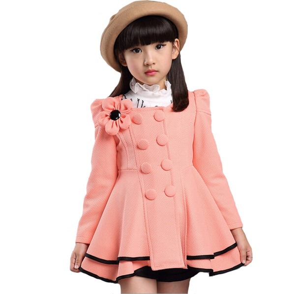 High quality girl Coat fashion Flower Jacket coat for girl Autumn winter outerwear girls Clothes 4-12 years old Y1891309