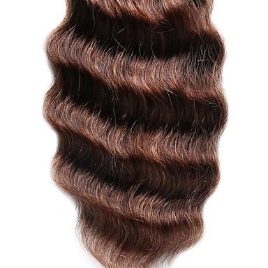 Продукты волос волны девственницы цвета Брайна нового продукта бразильские средств глубокие 100% выдвижения человеческих волос 6A Unprocessed двойные волосы утка