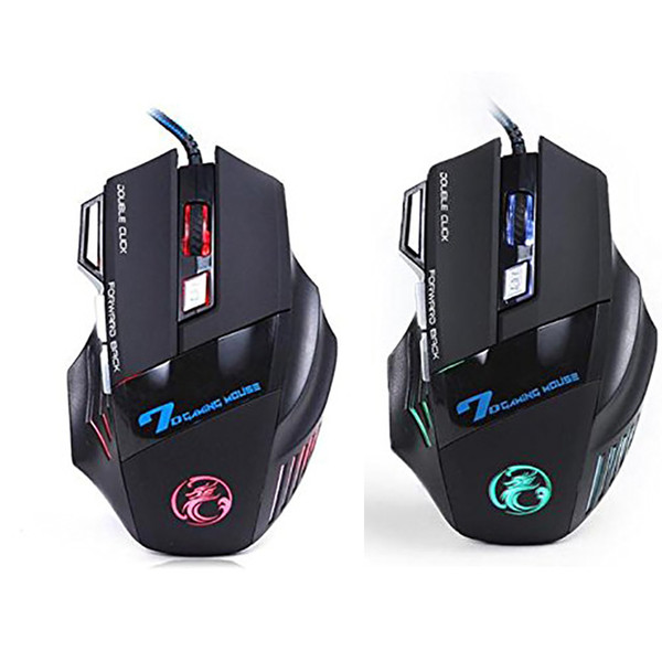 Top Quality Original iMICE X7 Wired Gaming Mouse 7 Buttons 2400DPI LED Optical Wired Cable Gamer Computer Mice For PC Laptop