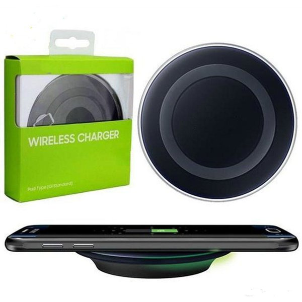 2018 High Quality Universal Qi Wireless Charger For Samsung Note8 Galaxy s7 Edge s8 plus note8 iphone 8 X mobile pad with package usb cable