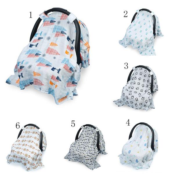 Cubierta de la sombrilla del bebé del oficio de enfermera de la impresión Cubierta del cochecito de la manta del portador infantil Cubierta de la protección del sol 130 * 110cm 12 colores C4186