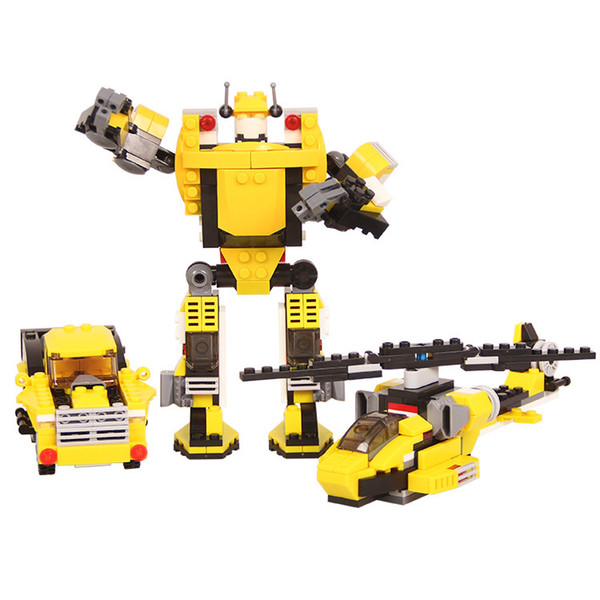 Car spelling insert DIY puzzle children's toys Small particles of building blocks assembled challenger robot