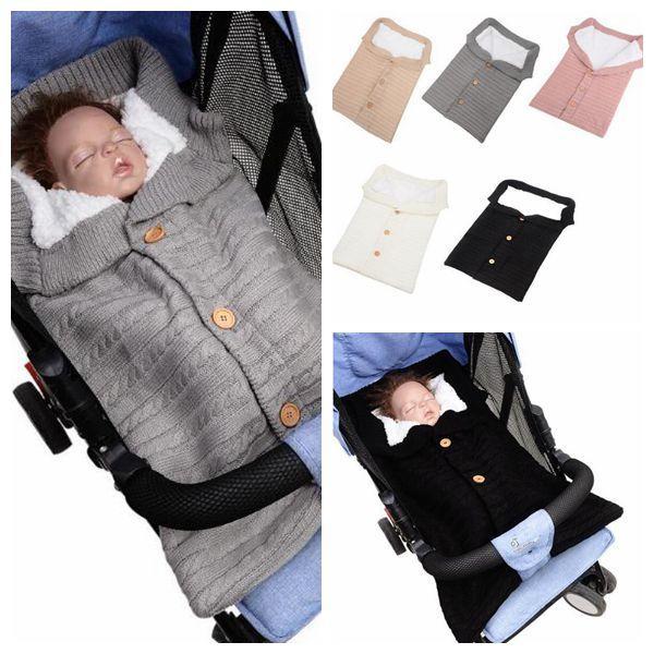 5 Colors Winter Baby Sleeping Bags Kids Cocoon Sleepsacks Newborn Stroller Blankets Sleeping Bags Xmas Gifts Envelope Blanket CCA10718 5pcs