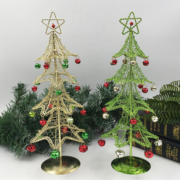 Commercial Christmas Tree.2018 New Hot Sale High Quality Mini Desktop Iron Christmas Tree Home Office Decoration Gift Ornaments Creative Gift Commercial Christmas Decorations