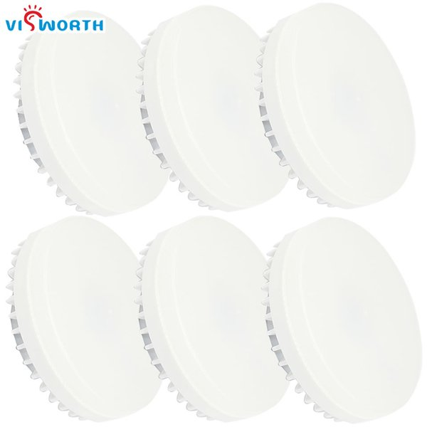 VisWorth 6Pcs / Lot 5W 7W 9W Lámpara Led GX53 SMD2835 25pcs Leds Spotlight Frosted PC Cover Light Cabinet 3000 / 6000K Bombilla Led