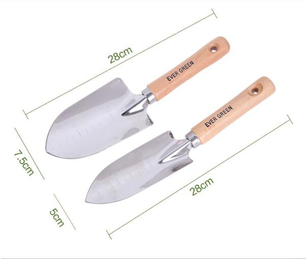 wholesale hot sale Stainless Steel Small Scale Shovel With Wooden Handle Garden Hand Tool free shipping
