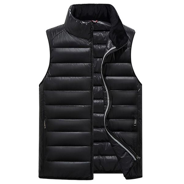 Großhandels-2017 Winter-Mann-Weste-starke warme Baumwollmännliche Weste Sleeveless Reißverschluss-feste zufällige Männer-Jacken-Mantel-Parkas-Kleidung-Weste
