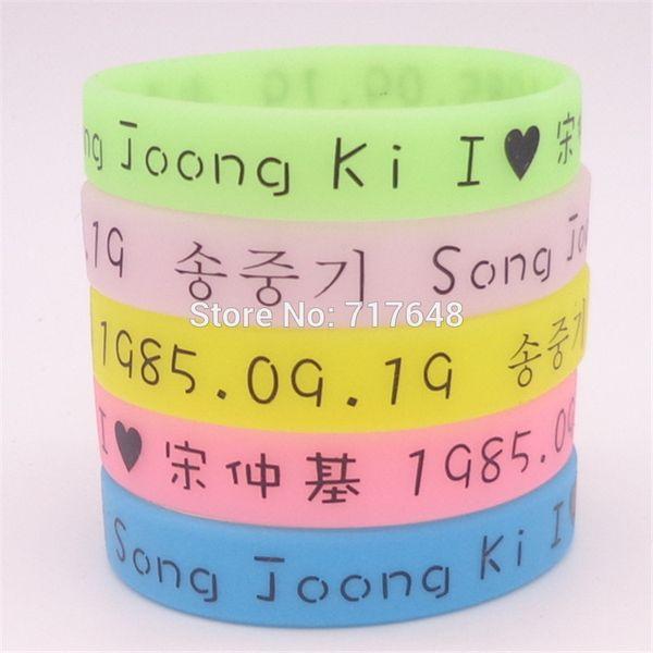 1pc glow in the dark Song Joong Ki wristband silicone bracelets