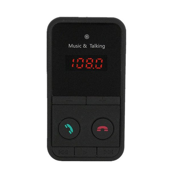 Car Bluetooth MP3 Kit Handsfree Function FM Transmitter USB Charging Port for TF Card Slot Remote Control