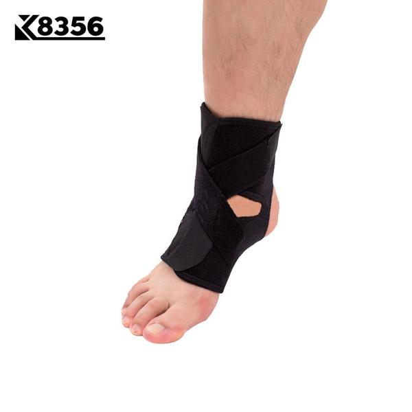 K8356 Регулируемая бандажная голеностопная стойка Спортивная безопасность Защитный чехол для лодыжки Breathable Fitness Баскетбол Волейбол Защитники