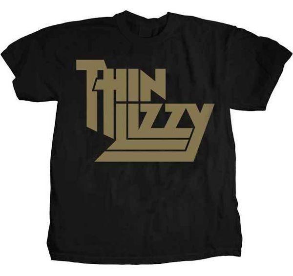 b7e9a22fe THIN LIZZY - Gold Metallic Logo T SHIRT S-M-L-XL-2XL Brand New Official