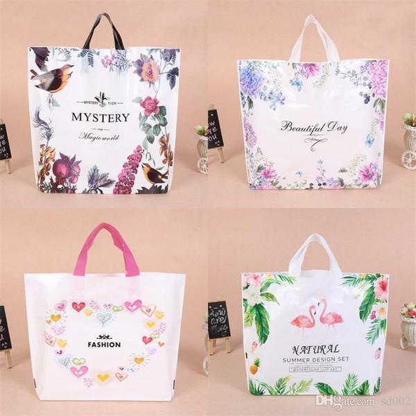 Printing Gift Wrap Shopping Bag Portable Woman Reticule Exquisite Plastic Lady Cute Flamingo Handbag Storage Bags 0 75yl3 bb