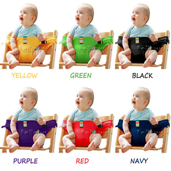 top popular Baby Sack Seats Portable High Chair Shoulder Strap Infant Safety Seat Belt Toddler Feeding Seat Cover Harness Dining Chair Seat Belt LC679 2021