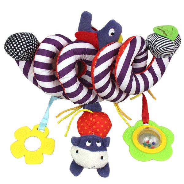 Surwish Cute Infant Babyplay Baby Toys Activity Spiral Bed Stroller Toy Set Hanging Bell Cuna Sonajero Juguetes para el aprendizaje del bebé