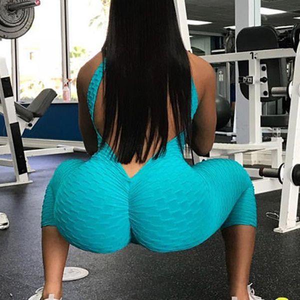 Sport Wear Women Clothing Jumpsuit Fitness Suit Sports Jumpsuit Yoga Gym Running Set Tracksuit Yoga Backless