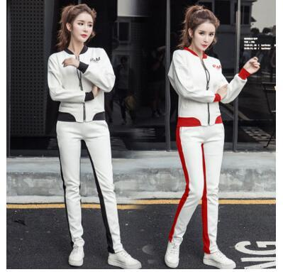 Autumn women fashion sports suit 2017 new sportswear leisure two suits