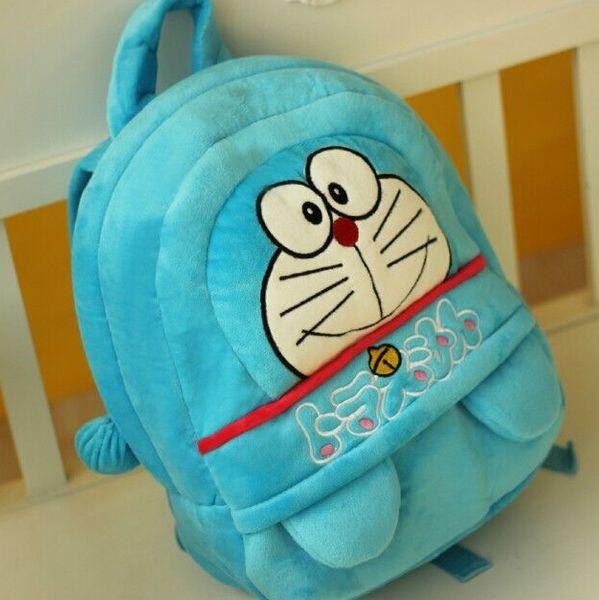 BSTAOFY Dropshipping New Doraemon Mochilas De Pelúcia Sacos Backpakcs para Sacos De Escola Preço Barato Frete Grátis