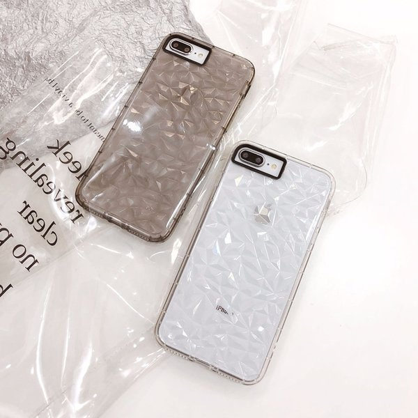 2018 New Arrival for iphone 7 plus case Diamond Vision Transparent for goophone x designer phone case TPU Back Cover