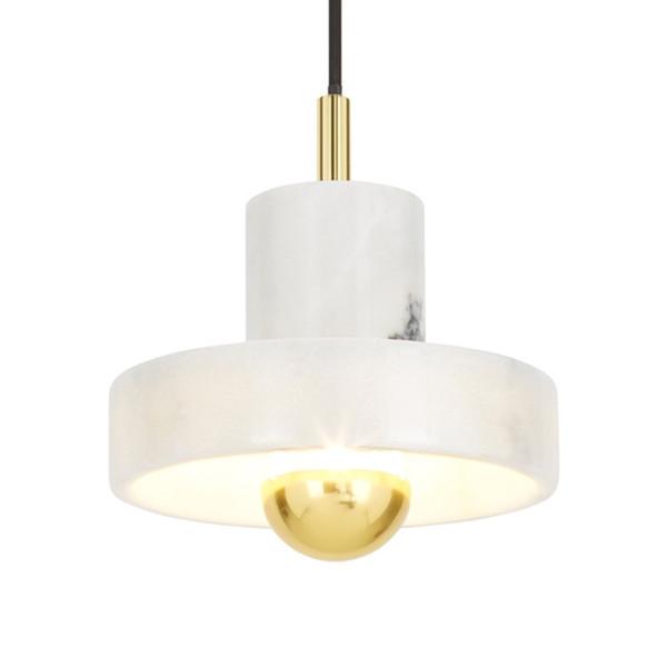 Acquista Design Moderno In Marmo Bianco Lampada A Sospensione Da Comodino  Camera Da Letto Lampada Da Tavolo Camera Campione Appeso A Parete Lampada  ...