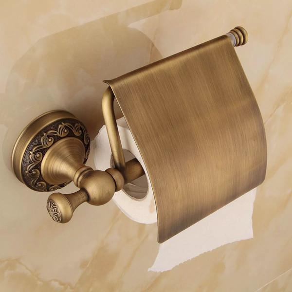 Antique Brass Paper Towel Rack Europe Style Bathroom Paper Holder European Toilet Paper Box Toilet Accessories