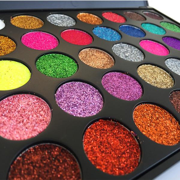 35 Color Glitter Metallic Eyeshadow Palette Shimmer Diamond Pressed Eye Shadow Powder Cosmetics Shine Makeup Palette