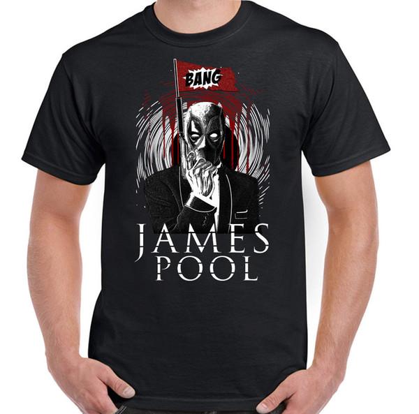 James Pool T-shirt Funny Bond Parody pour homme Deadpool Mash Up 007 Super-héros 2