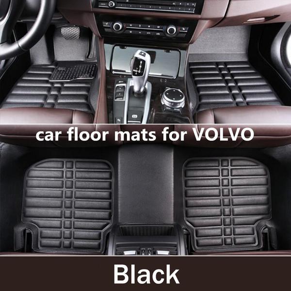 Carpet Custom Car Floor Mats for Volvo XC90 XC60 S90 S60 V60 V40 V90 Auto Floor Mat Car Accessories Envelope in Half Carpets