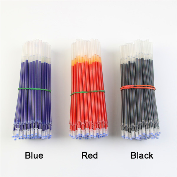 1000 Unids / lote Neutral Ink Gel Pluma Recarga Neutral Pen Buena calidad Recarga Negro Azul Rojo 0.5mm 0.38mm Recarga de bala Oficina y la escuela