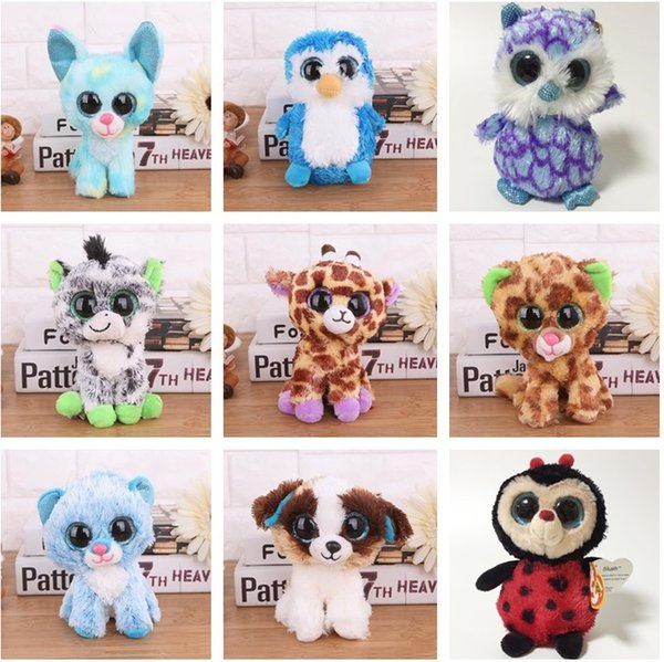 best selling Ty Beanie Boos Plush Animal Doll Toy Owl Unicorn Cat Mummy Leopard Trickster Foxy Dog Rabbit Dinosaur Baby Girl Kids Toy c689