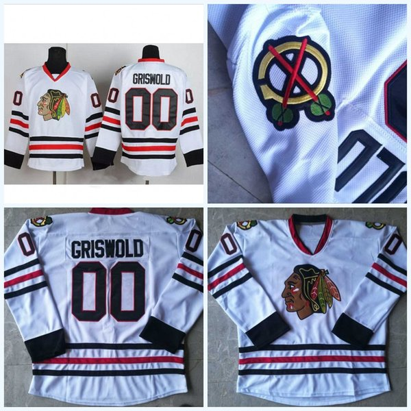4891aa04 Mens Clark Griswold #00 Christmas Vacation Movie Jerseys White Vintage  Hockey Jersey All Stitched Free