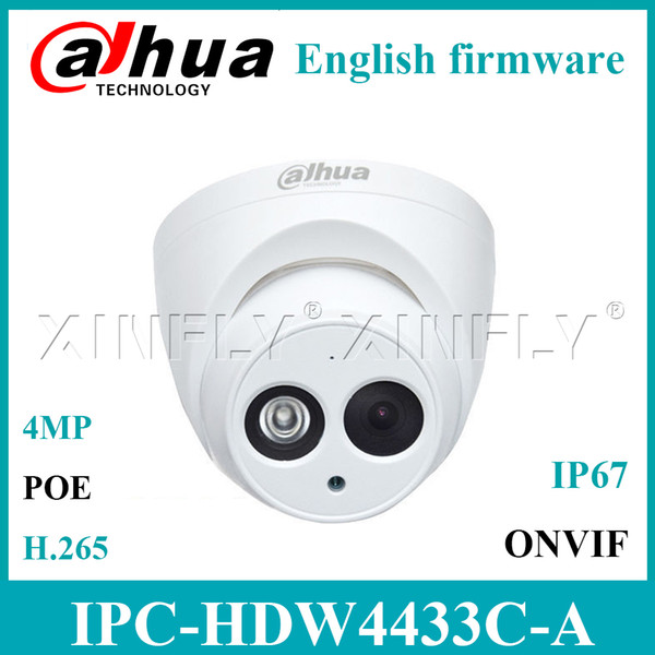Cámara CCTV IP de red IP POE IPC-HDW4433C-A de 4MP Micrófono incorporado mini domo IR Star-Light Reemplace IPC-HDW4431C-A ENVÍO EXPRESO