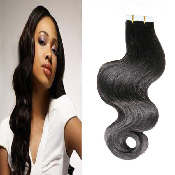 """16"""" 18"""" 20"""" 22"""" 24"""" 26"""" Virgin Brazilian Body Wave Hair Products Skin Weft Tape Hair Extensions 8a Tape in Hair Extensions Remy 40 pieces"""