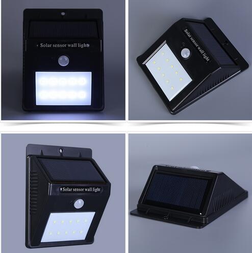 Waterproof 10 12 16 20LED Solar Light Solar Power PIR Motion Sensor LED Garden Light Outdoor Pathway Sense LED Solar Lamp Wall Light