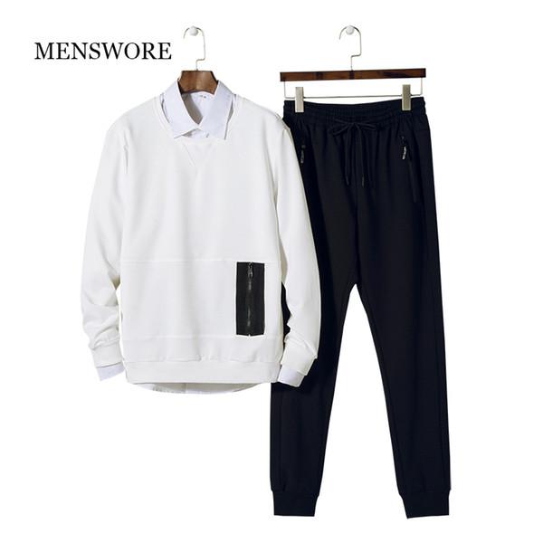 Abbigliamento uomo MENSWORE Set Abbigliamento sportivo Felpe Autunno Felpe Moda Sporting Sets Tute da uomo Felpe uomo + pantaloni