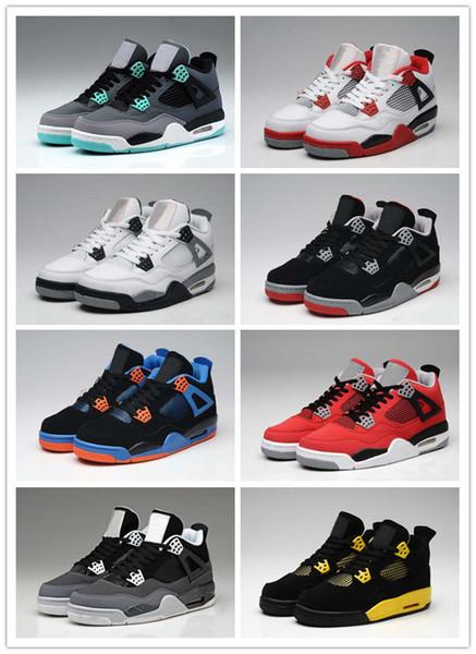 Con la caja 2018 de alta calidad 4s zapatos de baloncesto para hombre 4s cemento blanco negro rojo 4 Superman zapatos deportivos de moda