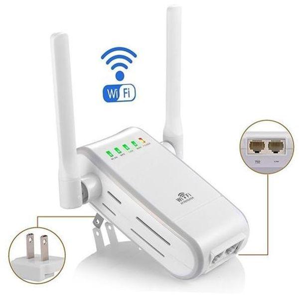300Mbps Wireless WiFi Repeater Range Extender Booster EU Plug+2x Antennas