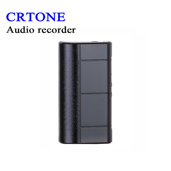 CRTONE Audio Recorder Dictaphone 8GB Sound Recording Long Record Time About  280 Hours Powerful Magnet Clip LED Light Cassette Recorder Sound Recording
