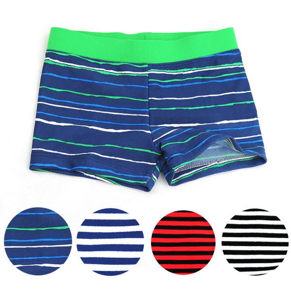 New Summer Clothing Kids Boy Swim Cute Striped Trunks Children Swimming Shorts Boys Beach Swimwears Boy's Clothing 4 Colors