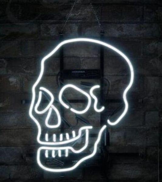 24*20 inches Skull Shape Porcelain Store DIY Glass Neon Sign Flex Rope Neon Light Indoor/Outdoor Decoration RGB Voltage 110V-240V