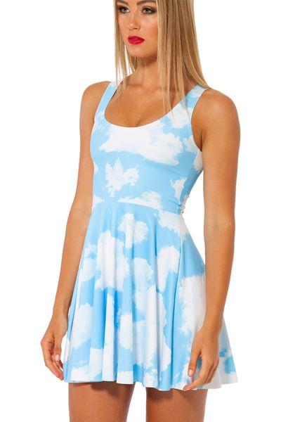 New Fashion Blue White Print Vest Dress Pleated Casual Party Evening Bodycon Dress Slim Club Mini Dress for Women Ladies Cheap Clothing