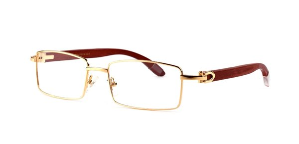Designer sunglasses men women France brand full frame rectangle metal sun glasses luxury c hinge wood eyegasses lunettes sonnenbrille 2018