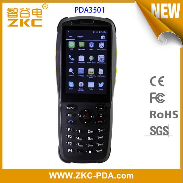 Lettore / lettore di schede a circuito chiuso palmare RFID Android NFC di ZKC PDA3501
