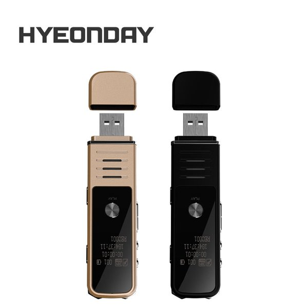 Digital Voice Recorder USB Flash Dictaphone K30 HYEONDAY Audio Recorders MP3 Player Noise Reduction Sound record Lossless Voice