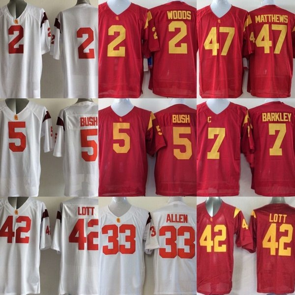 2019 Mens Usc Trojans College Jersey 14 Sam Darnold 43 Troy Polamalu 32 Oj Simpson Red White College Stitched Jerseys From Projerseysword 29 45