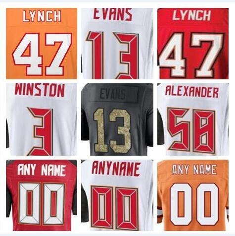 9ec6c156b 2018 Tampa Bay Vita Vea Mike Evans Buccaneer jerseys Lavonte David green  anthracite olive salute to