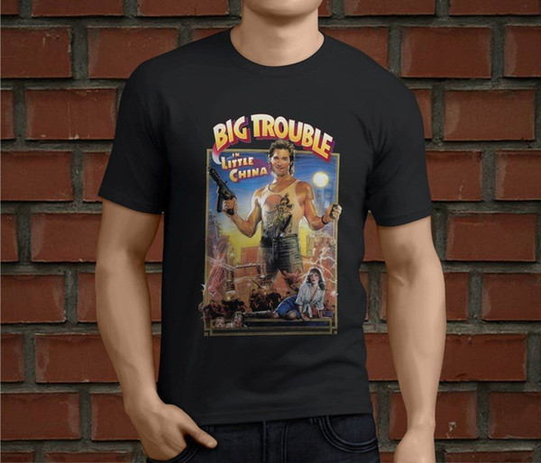 Hot Big Trouble In Little China Action Movie Men's Black T-Shirt Size S-3XL NEW Fashion Cool Short Sleeve Summer Classical Top Tee