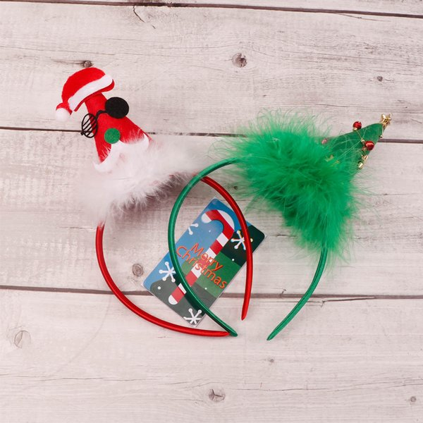 Noel Güzel Kafa Noel Baba Noel Ağacı Çocuk Fotoğraf Sahne Festivali Butik Hairwear Parti Headdress Saç Aksesuarları